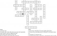 A Christmas Carol Crossword   Wordmint   A Christmas Carol Crossword Printable