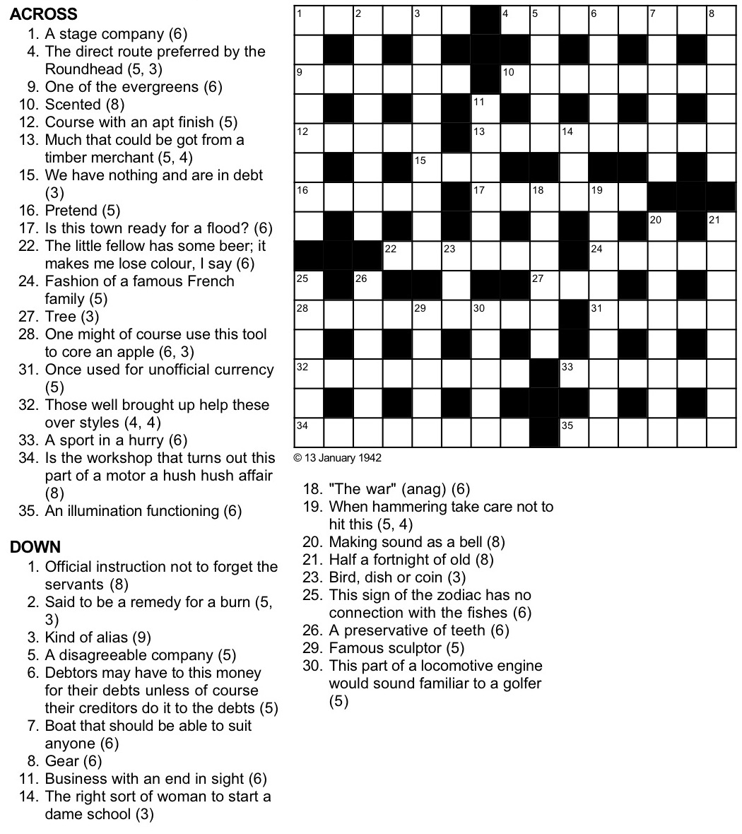 A Cryptic Tribulation Turing Test Crossword Puzzle - Wwii Crossword Puzzle Printable