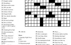 A Hard Puzzle To Solve   An Enigma | Nouns And Lots More! | Free   Printable Crossword Puzzles Hard