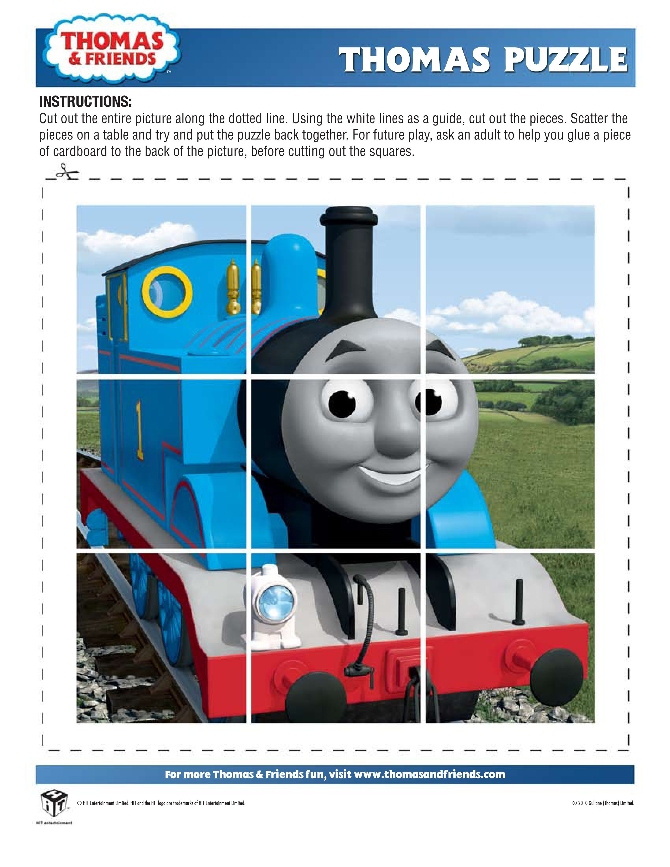 A Puzzle Great For Putting Lin Loot Bags Or To Lay As A Game. Print - Printable Train Puzzle