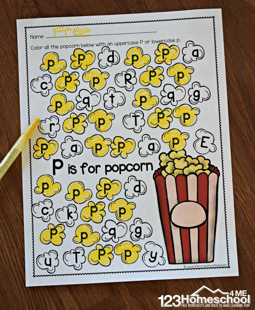 A To Z Letter Find | 123 Homeschool 4 Me - Letter P Puzzle Printable