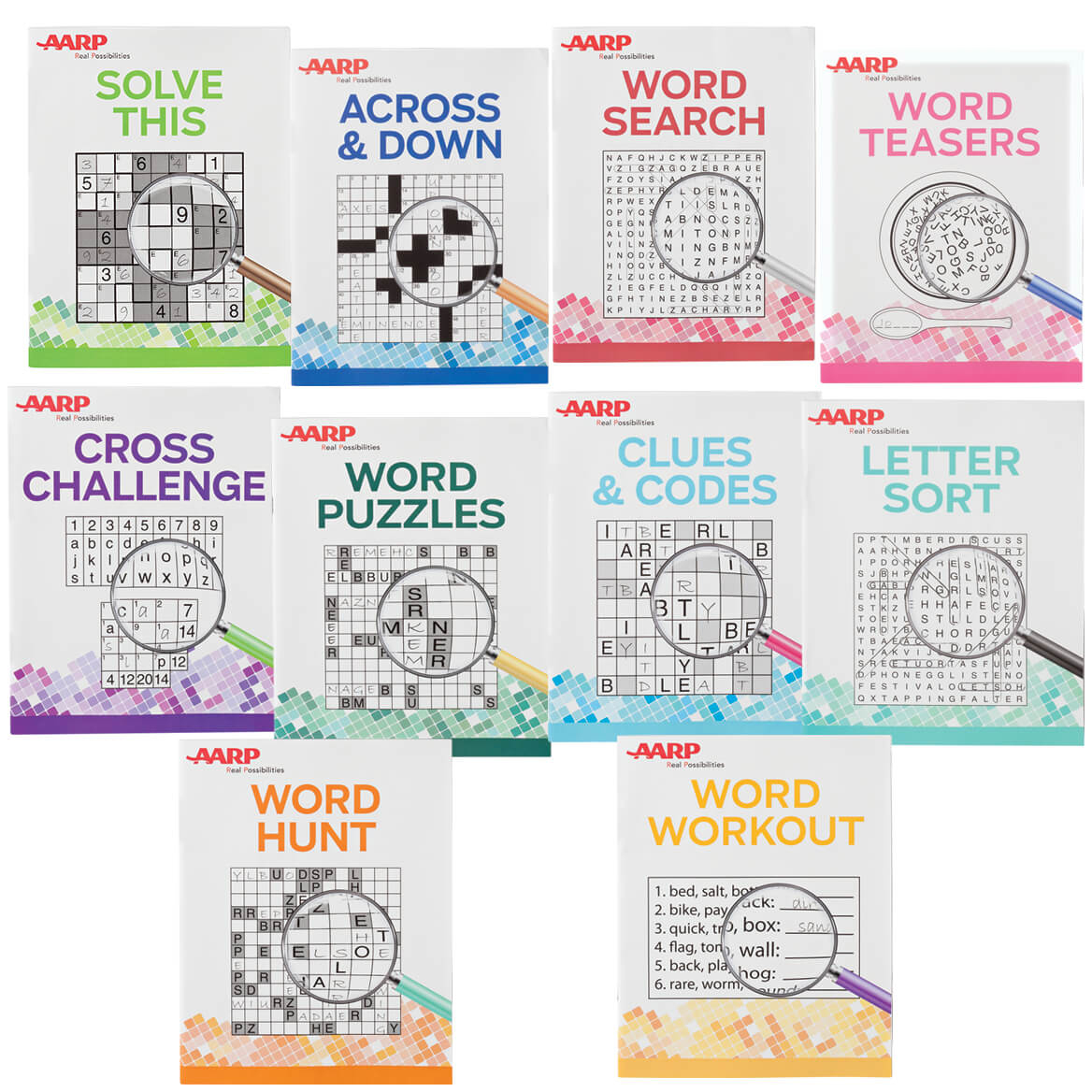 Aarp Large Print Puzzle Books, Set Of 10 - Aarp Puzzle - Miles Kimball - Printable Puzzle Books