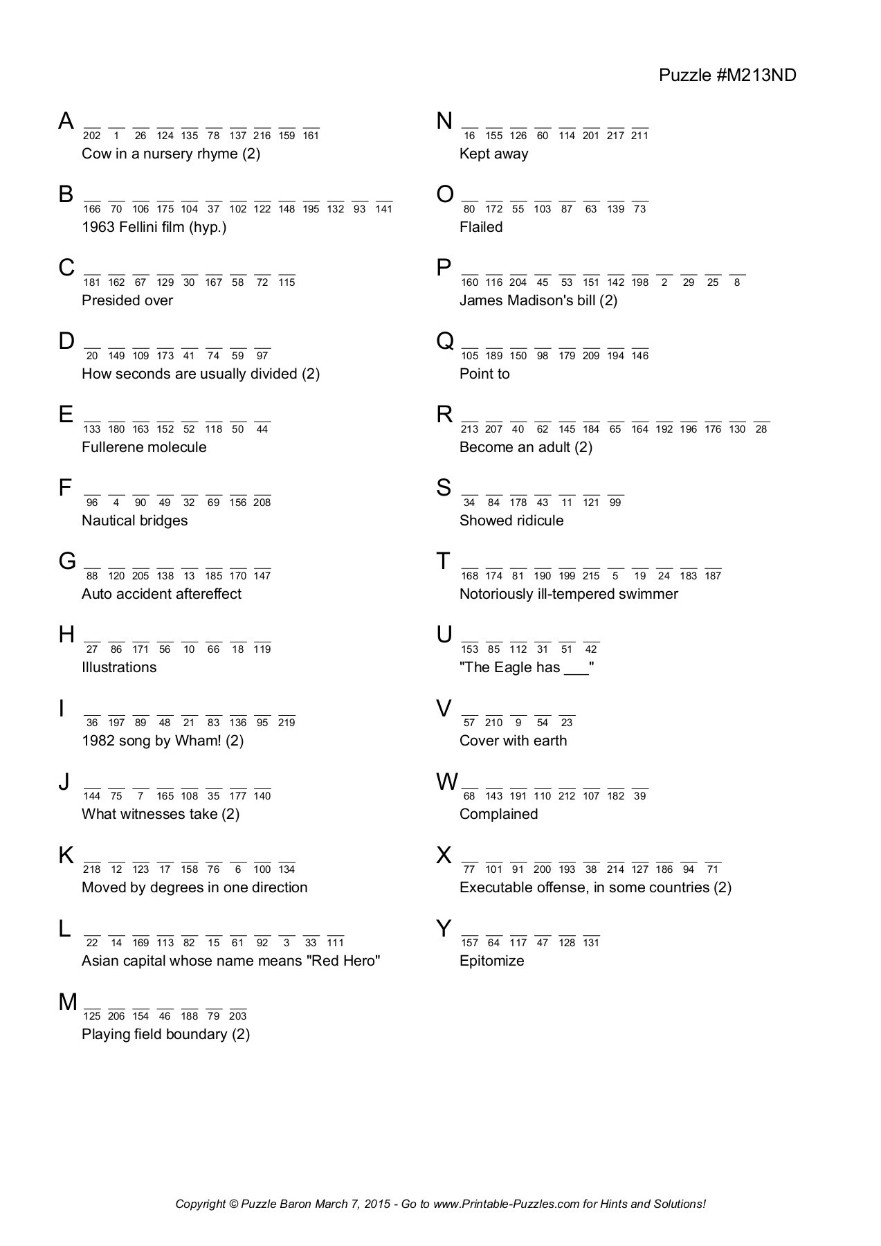Acrosticspuzzle Baron | Fliphtml5 - Printable Acrostics Puzzle Baron