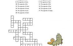 Adjectives Crossword Worksheet   Free Esl Printable Worksheets Made   Printable Opposite Crossword Puzzle