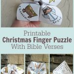 Adorable Printable Christmas Finger Puzzle With Bible Verses   These   Printable Origami Puzzle