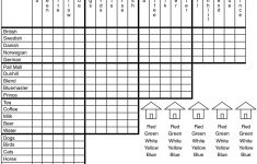 Albert Einstein's Logic Puzzle, Maybe   David Pace   Printable Logic Puzzles Online