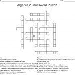 Algebra 2 Crossword Puzzle Crossword   Wordmint   Algebra Crossword Puzzle Printable