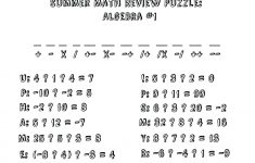 Algebra: Math Worksheet Puzzles For High School Ideas Fun Algebra   Printable Maths Puzzles Ks3