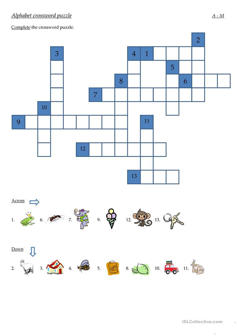 Alphabet Crossword Puzzle Worksheet - Free Esl Printable Worksheets - Printable Puzzle Alphabet