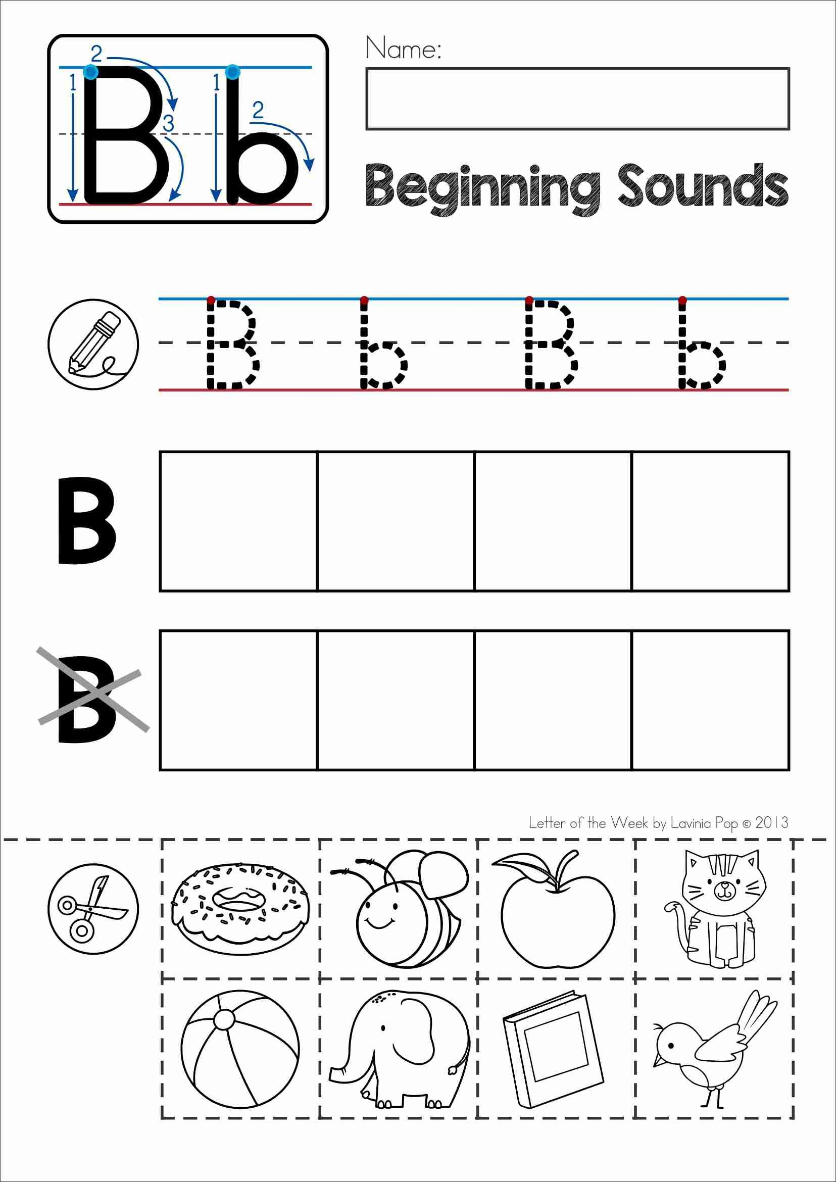 Alphabet Phonics Letter Of The Week B | Alphabet Activities - Letter B Puzzle Printable