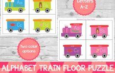 Alphabet Train Floor Puzzle Preschool Printables Learning   Etsy   Printable Floor Puzzle