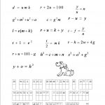 An Algebra Puzzle. | Maths Worksheets | Math Worksheets, Algebra, Math   Printable Algebra Puzzles