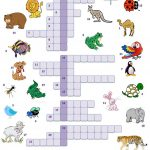 Animal Picture Crossword Worksheet   Free Esl Printable Worksheets   Printable Crossword Animal