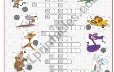 Animals Crossword Puzzle   Esl Worksheetkissnetothedit   Animal Crossword Puzzle Printable