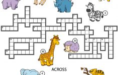 Animals Crossword Puzzle For Studying English Vocabulary | Free   Printable Crossword Puzzles For Learning English