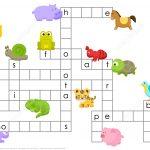 Animals Crossword Puzzle   Free Printable Puzzle Games   Printable Crossword Puzzles About Animals
