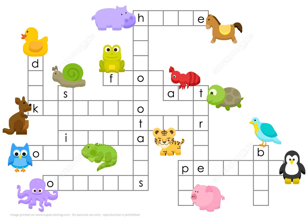 Animals Crossword Puzzle | Free Printable Puzzle Games - Printable Crossword Puzzles About Animals
