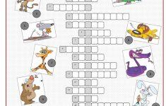 Animals Crossword Puzzle Worksheet   Free Esl Printable Worksheets   Printable Crossword Animal