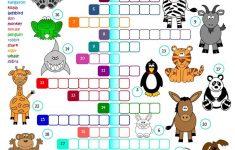 Animals   Crossword Worksheet   Free Esl Printable Worksheets Made   Animal Crossword Puzzle Printable