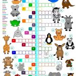 Animals   Crossword Worksheet   Free Esl Printable Worksheets Made   Printable Crossword Animal