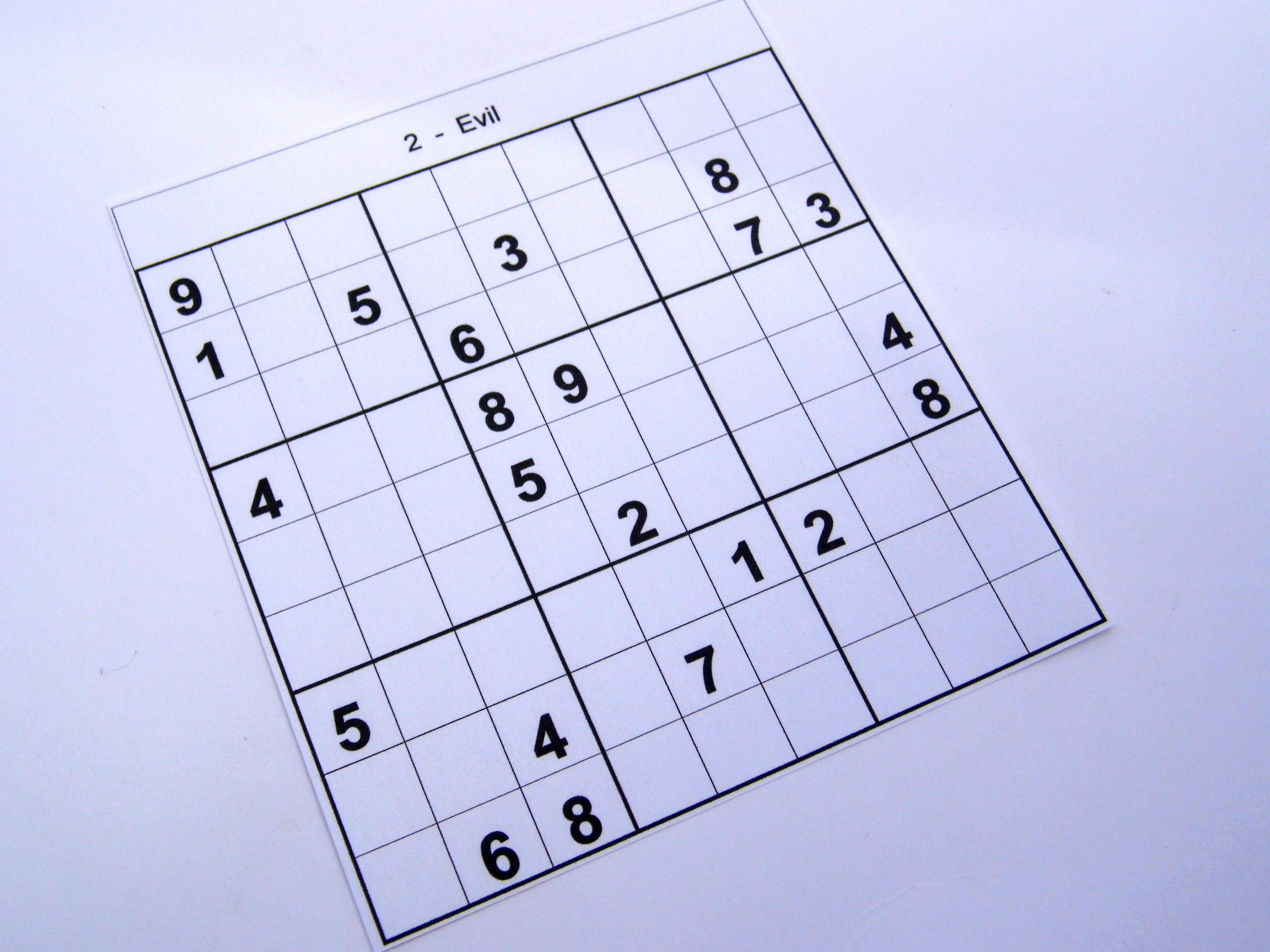 Archive Evil Puzzles – Free Sudoku Puzzles - Free Printable Sudoku 6 - Printable Sudoku Puzzles 8 Per Page