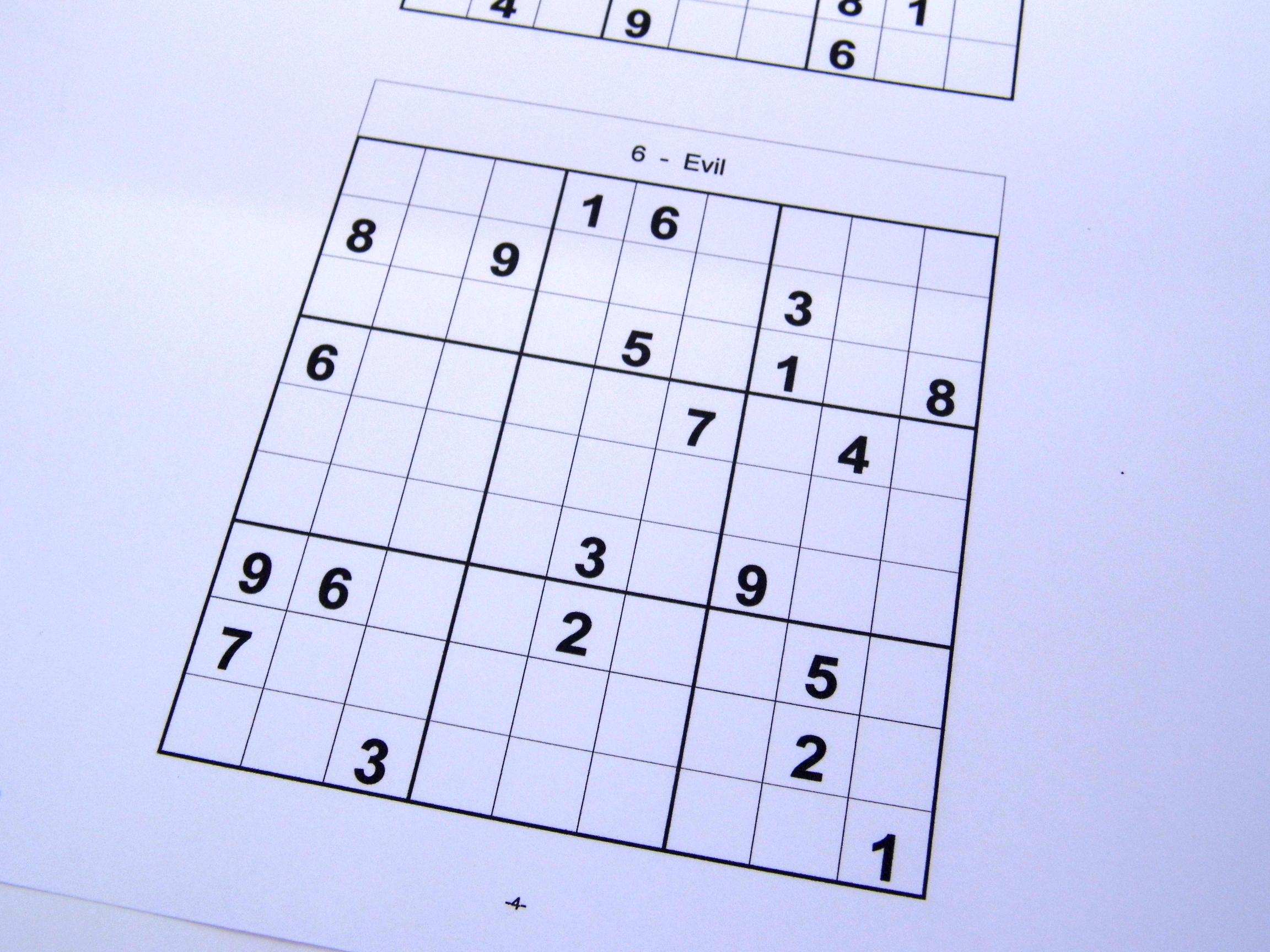 Archive Puzzles – 40 Medium Sudoku Puzzles – Books 1 To 10 – Free - Printable Sudoku Puzzles Medium