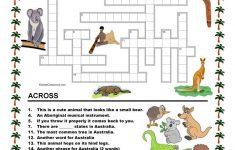 Australia   Crossword 1 Worksheet   Free Esl Printable Worksheets   Printable Crossword Australia