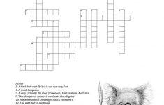Australian Animals Crossword   Crossword   Crossword, Australian   Printable Crossword Animal