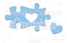 Autism Heart Puzzle Piece   Sofontsy   Printable Autism Puzzle Piece