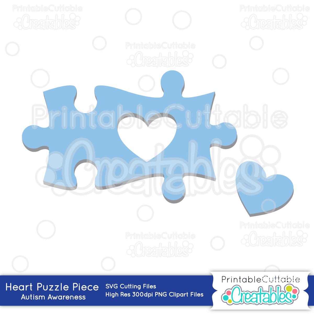 Autism Heart Puzzle Piece - Sofontsy - Printable Puzzle Piece Autism