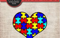 Autism Puzzle Heart   Awareness Svg   Sofontsy   Printable Puzzle Heart