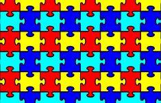 """Autism Puzzle Pattern Heat Transfer Vinyl Sheet (12""""x18"""")   Autism   Puzzle Print Vinyl"""