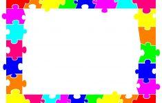 Autism Puzzle Piece Border Clip Art   Clip Art   Printable Border   Printable Autism Puzzle Piece