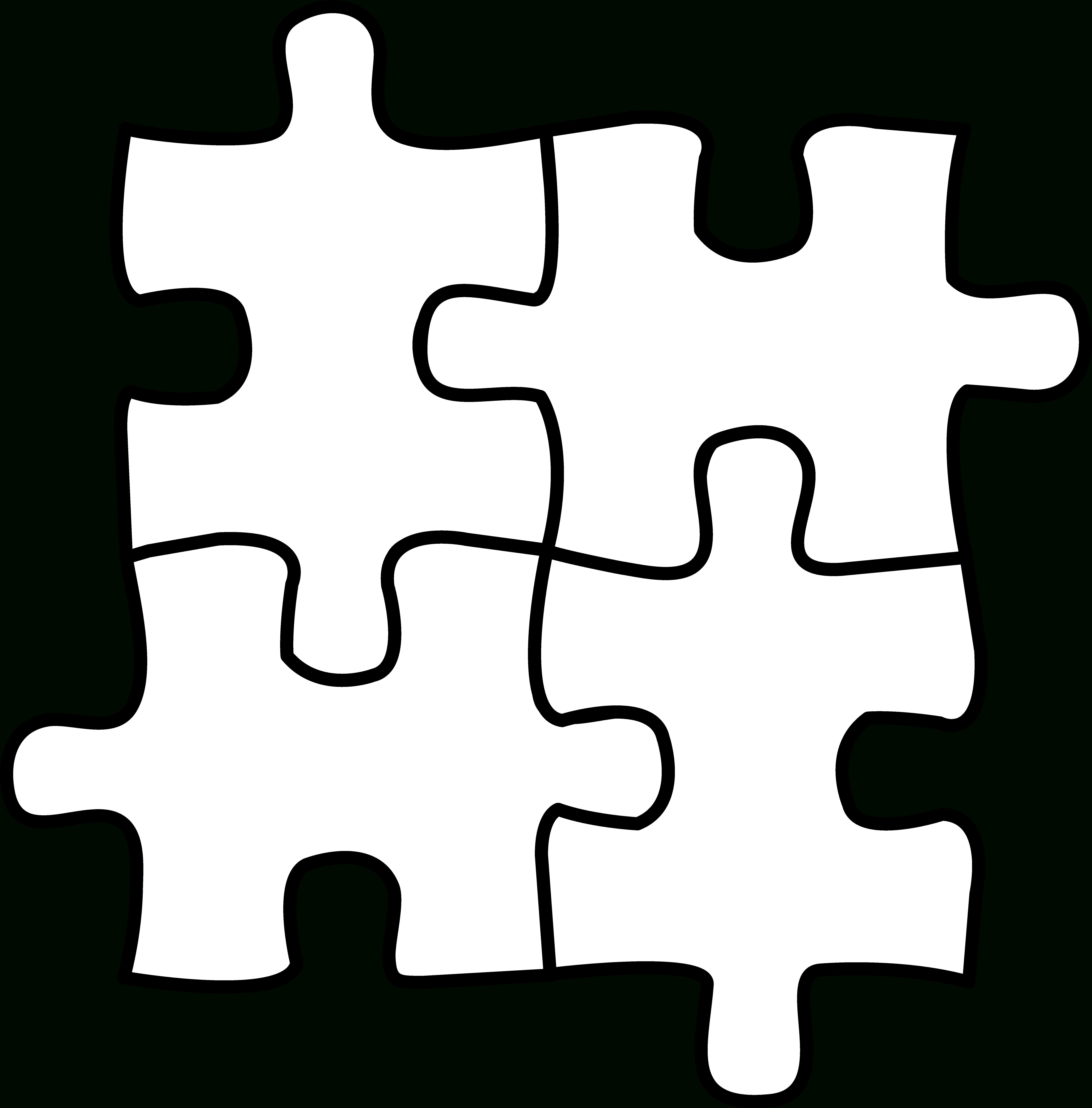 Autism Puzzle Piece Coloring Page - Coloring Home - Printable Colored Puzzle Pieces