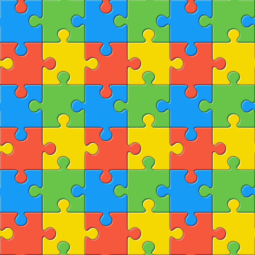 Autism Puzzle Printed Vinyl Htv Pattern Vinyl   Etsy - Puzzle Print Htv