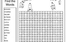 Awesome Cricket Word Search   Word Search   Cricket, Word Games   Crossword Puzzles Printable 1980S