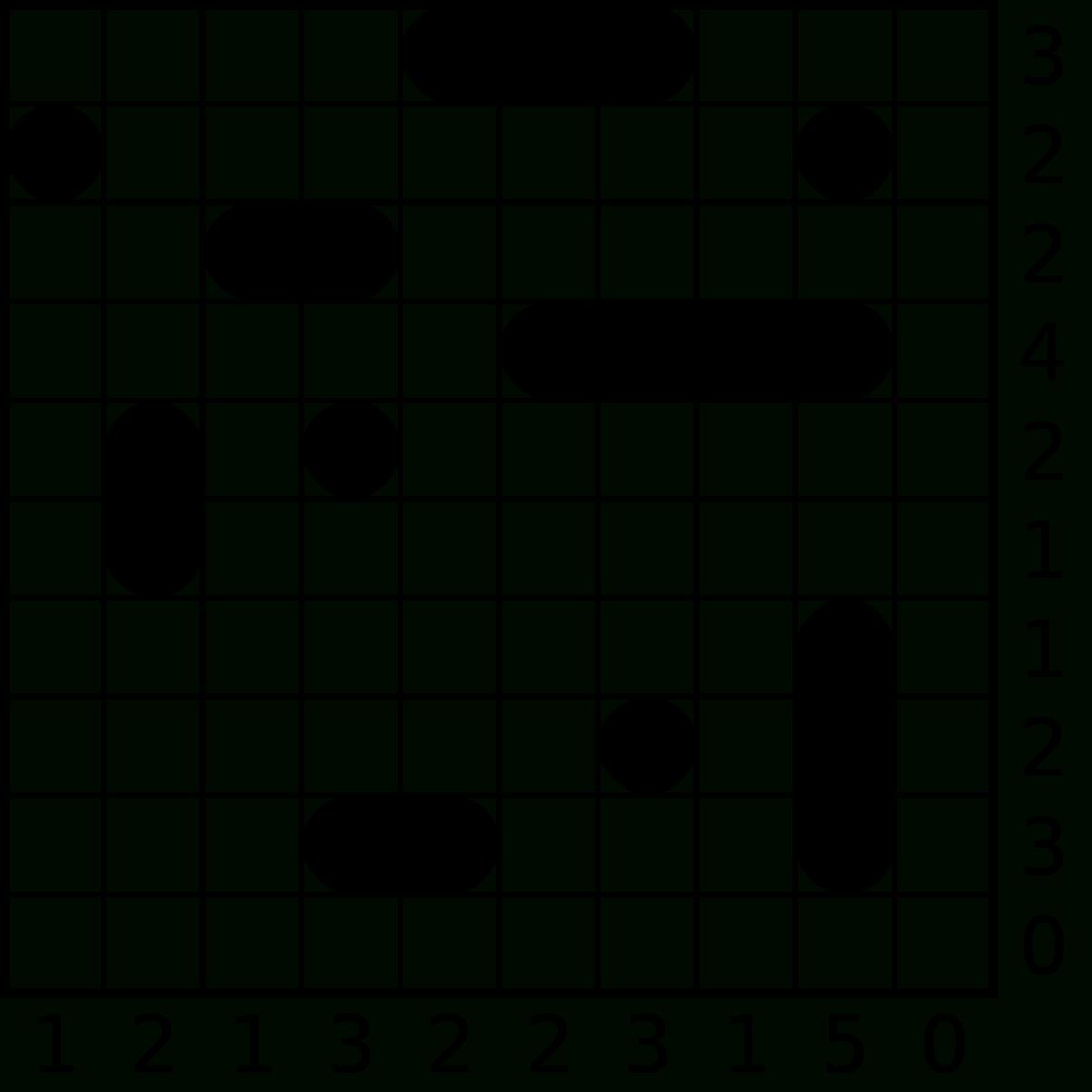 Battleship (Puzzle) - Wikipedia - Printable Battleships Puzzle