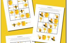 Bee Sudoku {Free Printable}   Gift Of Curiosity   Free Printable   Printable Thinking Puzzles