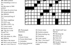 """Beekeeper Crosswords » Blog Archive » Puzzle #38: """"Spring Fever""""   Printable Spring Puzzle"""