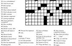 Beekeeper Crosswords   Free Printable Celebrity Crossword Puzzles