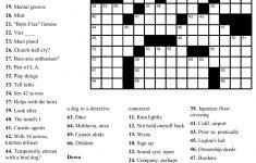 Beekeeper Crosswords   Printable Crossword #4