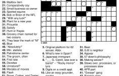 Beekeeper Crosswords   Printable Crossword Difficult