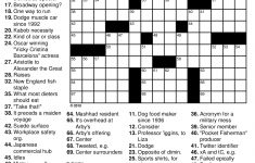 Beekeeper Crosswords   Printable Crossword Puzzle With Answers