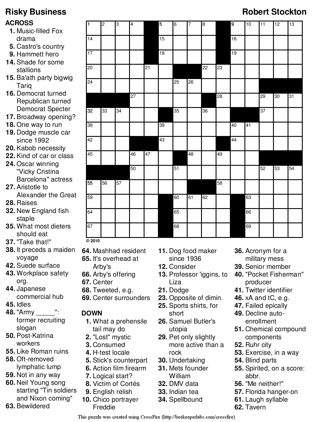 Beekeeper Crosswords - Printable English Crossword Puzzles With Answers