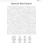 Beowulf Word Search   Wordmint   Printable Beowulf Crossword Puzzle