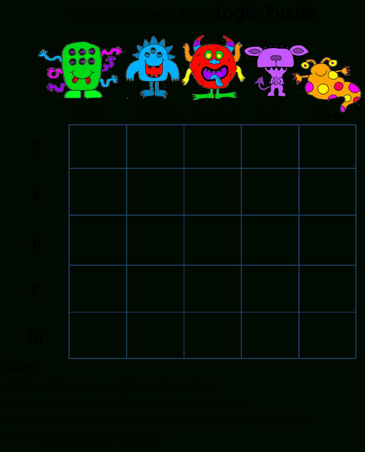 Beyond Gold Stars: Logicawesome Printable Logic Puzzles | Logic - Printable Puzzles For 2 Year Olds