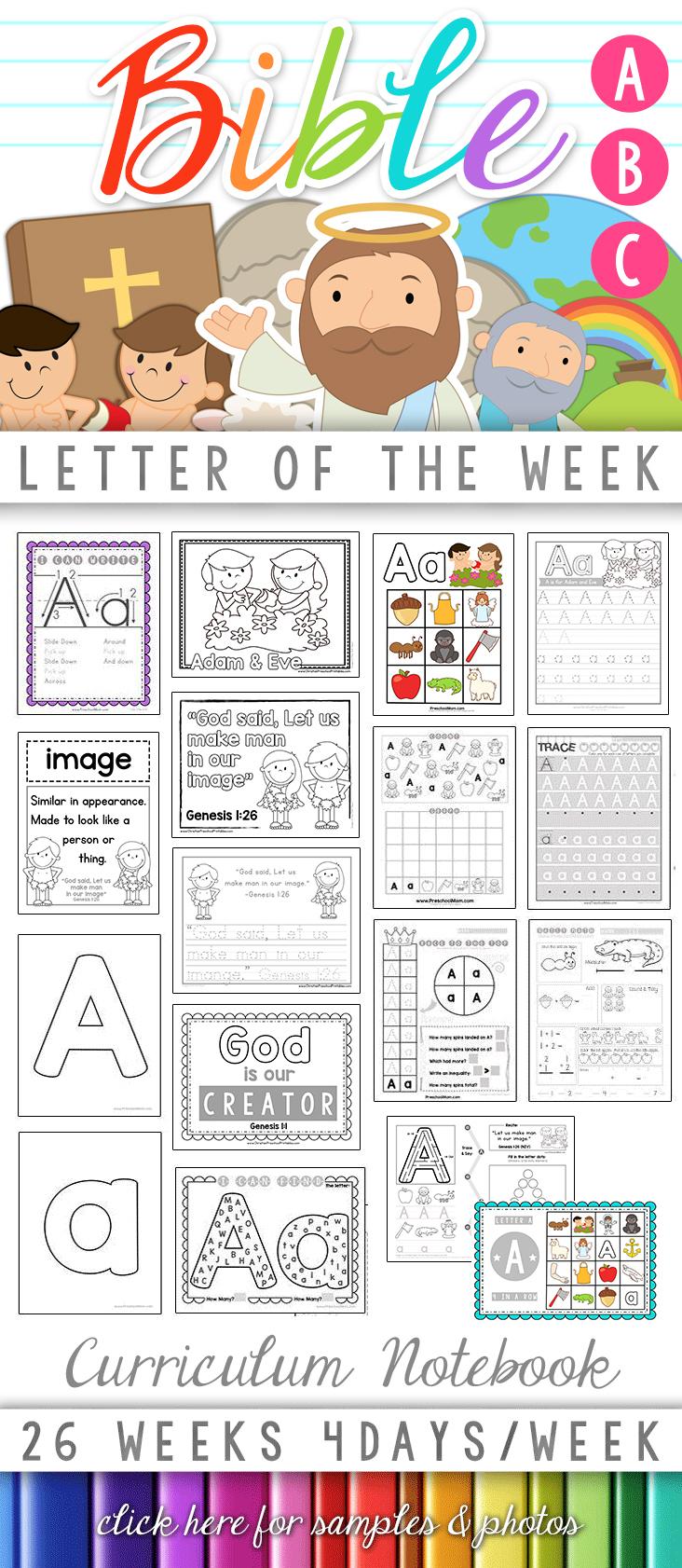 Bible Abc Printables - Christian Preschool Printables - Printable Bible Puzzles For Preschoolers