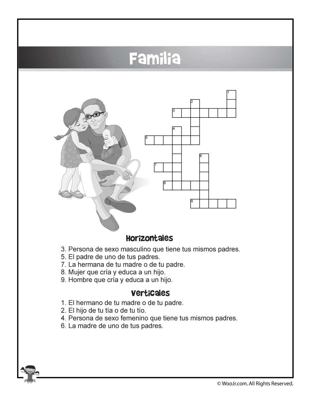 Bilingual / Esl Worksheets: English And Spanish Crossword Puzzles - Crossword Puzzle Printable In Spanish