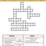 Birthday Crossword Puzzles To Print   Activity Shelter   Birthday Crossword Puzzle Printable