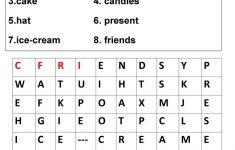 Birthday Crosswords Worksheet   Free Esl Printable Worksheets Made   Printable Birthday Crossword Puzzles